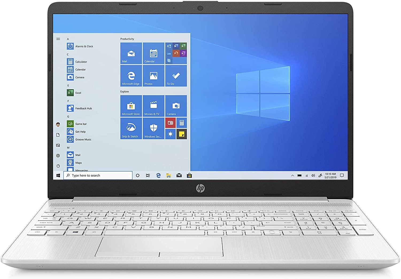 HP 15-dw2081ne Laptop, 15 inches FHD, 10 Gen Intel® Core™ i5 processor, 4GB RAM, 256GB SSD, NVIDIA GeForce MX130 2GB, Windows 10 Home, EN-AR KB, Silver - Middle East Version